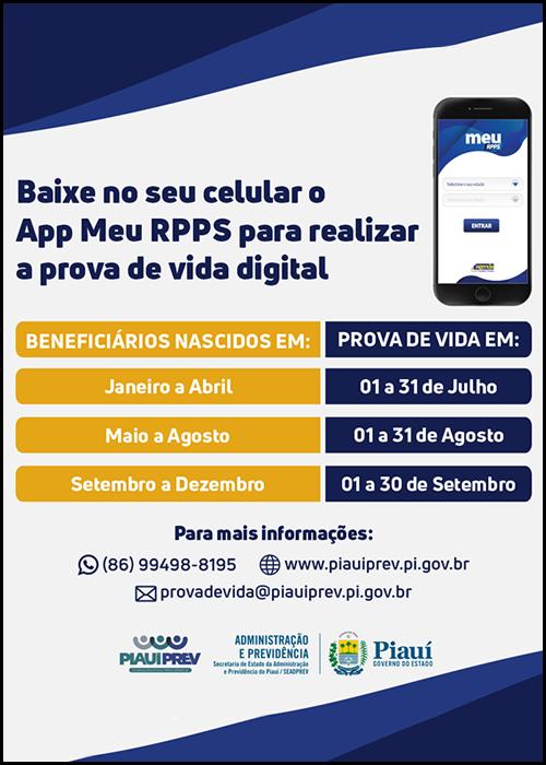 Aposentados e pensionistas do estado passam a realizar prova de vida por meio de aplicativo no Piauí