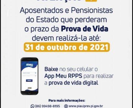 Governo do Estado do Piauí convoca todos os aposentados e pensionista que deixaram de  fizer a prova de vida.