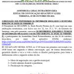 EDITAL DE CONVOCAÇÃO SENATEPI Nº 12/2021 TERESINA, 25 DE OUTUBRO DE 2021.